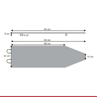Скица на Мини даска за пеглање RG 003